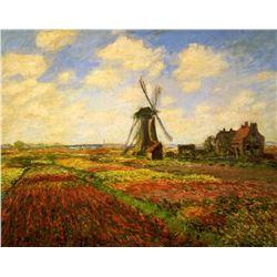 Claude Monet Tulips In A Field