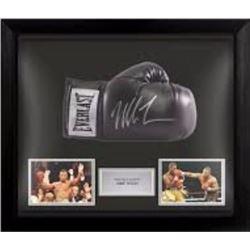 Mike Tyson - signed+framed Black boxing glove PSA