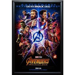 Avengers Infinity War Signed Poster