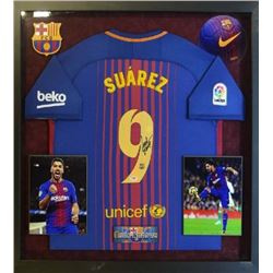 Luis Suárez Signed Jersey and Photo Collage