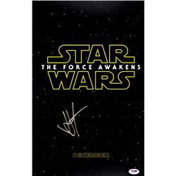 Autographed Star Wars The Force Awakens mini movie poster 12x18