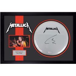 Metallica signed drumhead PSA
