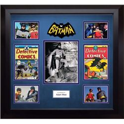 Autographed Batman Photo and comic collage