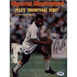Pele signed Sports Illustrated PSA (original 1976!!!)