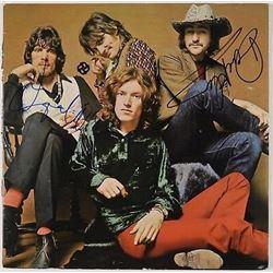 Traffic Jim Capaldi Dave Mason Signed Autograph Record JSA