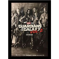 Guardians of the Galaxy Vol. 2 Sepia Signed Movie Poster