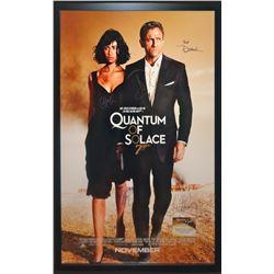 James Bond Quantum of Solace Signed Movie poster
