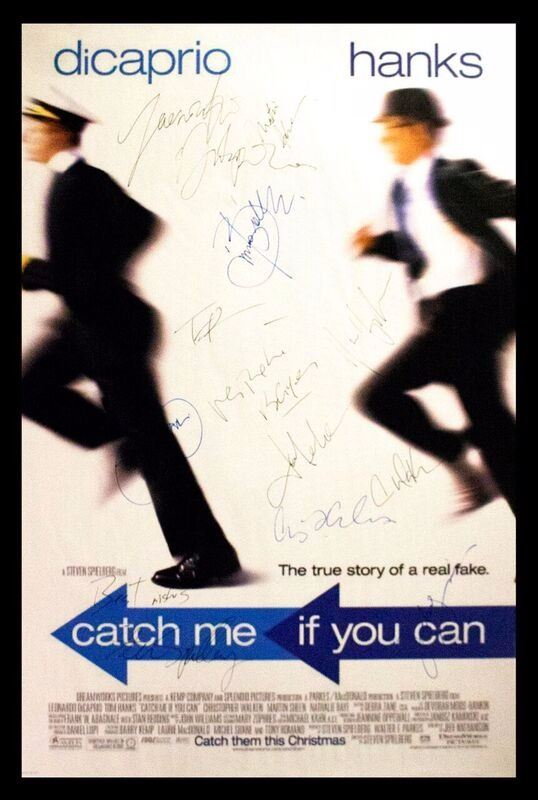 Catch Me If You Can Signed Movie Poster