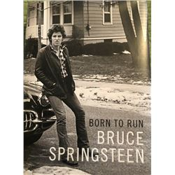 Bruce Springsteen Born to Run Signed Book BAS