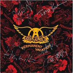 Aerosmith Permanent Vacations signed Album