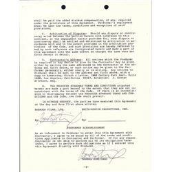 Signed Barbra Streisand Contract