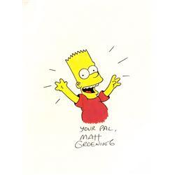 Original Bart Simpson drawing by Matt Groening 9x12