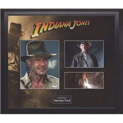 Indiana Jones Signed Photo and Movie Collage