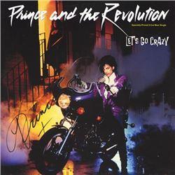 Prince Let's Go Crazy Single signed Album