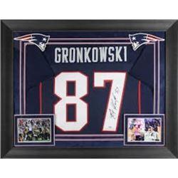 Rob Gronkowski autographed Patriots jersey