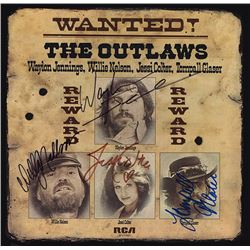 The Outlaws Wanted Outlaws signed Album