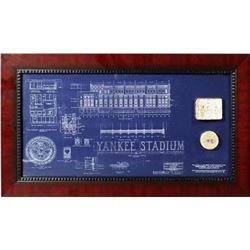 Yankee Stadium blueprint and actual brick