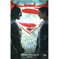 Signed Batman Vs Superman poster BAS