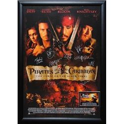 Pirates of the Caribbean: The Curse of the Black Pearl Signed Movie Poster