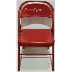 Indiana Hoosiers Bobby Knight signed chair