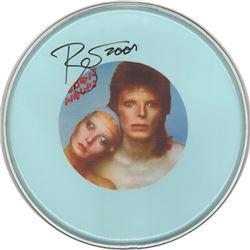 David Bowie Signed Drum Head