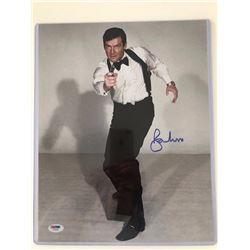 Autographed James Bond Roger Moore photo 11x14