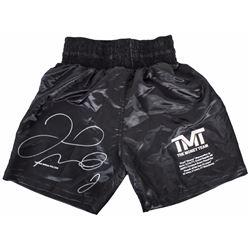 Signed Floyd Mayweather boxing trunks BAS