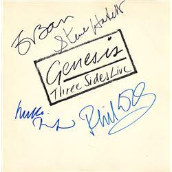 Genesis Band Signed Three Sides Live Album