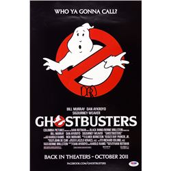Autographed Ghostbusters mini movie poster 12x18