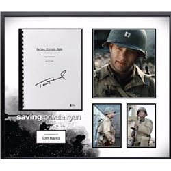 Saving Private Ryan Signed Screenplay and Photo Collage BAS
