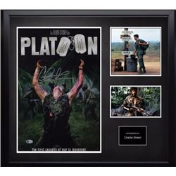 Autographed Platoon Mini Poster and Photo Collage BAS