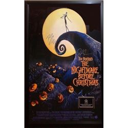 Nightmare Before Christmas Signed Movie Poster