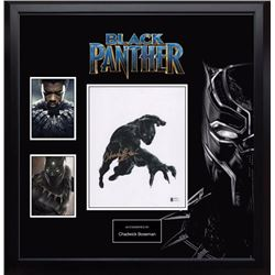 Autographed Black Panther Photo and Collage BAS