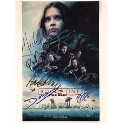 Autographed Star Wars Rogue One mini movie poster 11x17