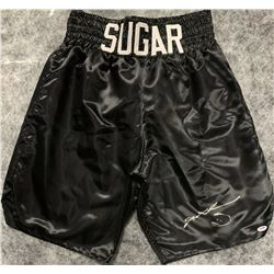 Signed Sugar Ray Boxing Trunks PSA