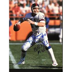 NY Giants Phil Simms signed Photograph 11x14