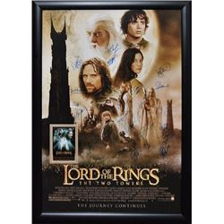 Lord of the Rings - The Two Towers Signed Movie Poster