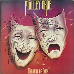 Motley Crue Theatre Of Pain signed Album