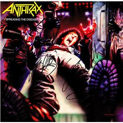 Anthrax Band Signed Spreading The Disease Album
