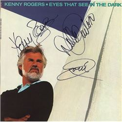 Kenny Rogers Eyes that See In the Dark signed Album