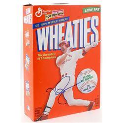 Signed Mcgwire Wheaties box JSA