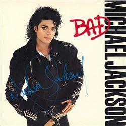 Michael Jackson Bad signed Album