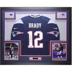 Tom Brady Autographed jersey framed