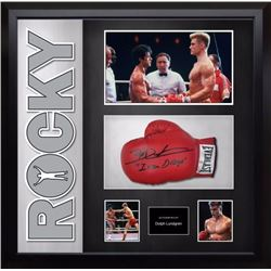 Rocky signed Glove and Photo Collage JSA