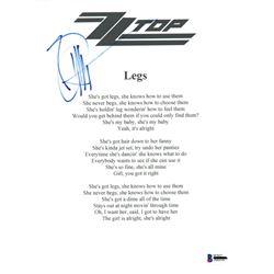 Signed ZZ Top Lyrics BAS