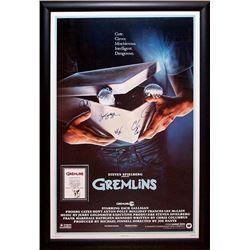 Gremlins Signed Movie Poster