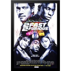 Fast and Furious 2 Fast 2 Furious Signed Movie Poster