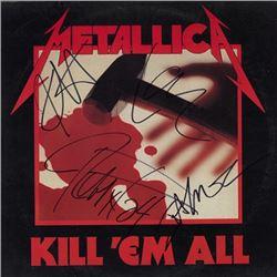 Metallica Kill 'Em All signed Album
