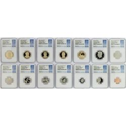 2015-S (14) Coin Proof Set NGC PF70 Ultra Cameo First Day of Issue