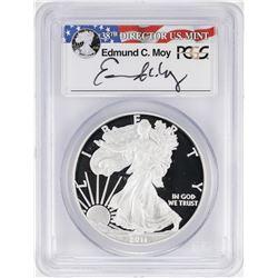 2011-W $1 American Silver Eagle Proof Coin PCGS PR69DCAM W/Edmund C. Moy Signature